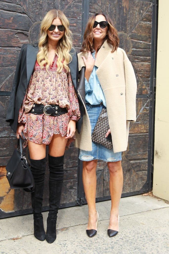 A black blazer and high boots will instantly bring your boho dresses into the new season.