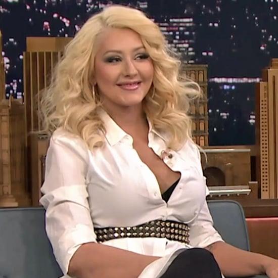 Christina Aguilera's Britney Spears Impression Tonight Show