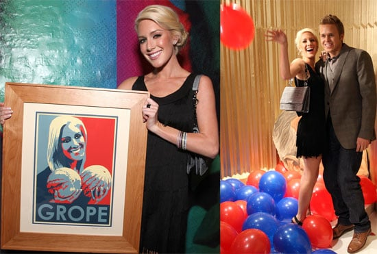 """Photos of Heidi Montag and Spencer Pratt With Heidi's """"Grope"""" Art Piece at Lights, Camera, Election Hollywood Art Event"""