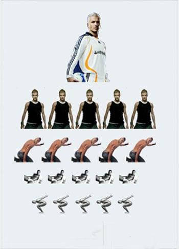David Beckham Eye Chart