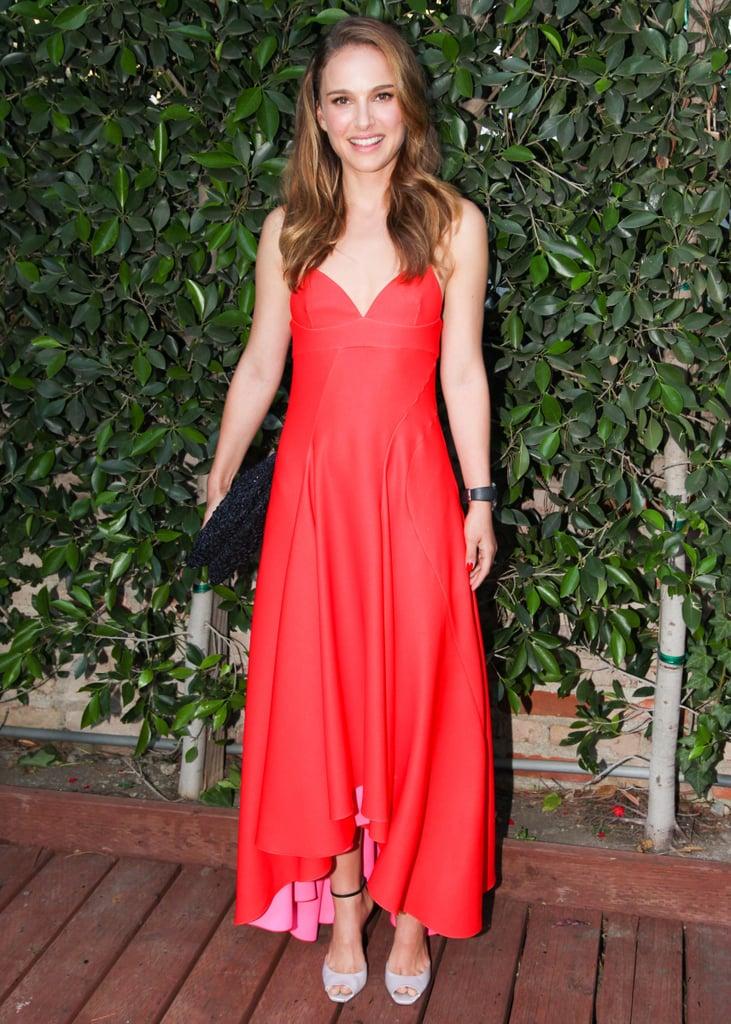 Natalie Portman in Red Dior Dress
