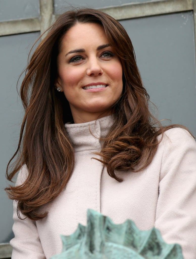 Kate's blow dry had some serious movement during the couple's trip to Cambridge in 2012.