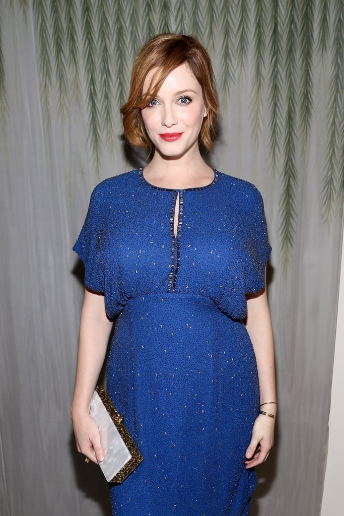 Christina Hendricks attended the Jenny Packham runway show on Tuesday.