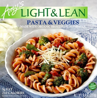 Review of Amy's Light and Lean Pasta and Veggies