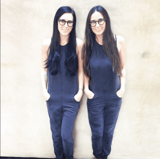 Demi Moore and Rumer Willis Black Jumpsuit Instagram