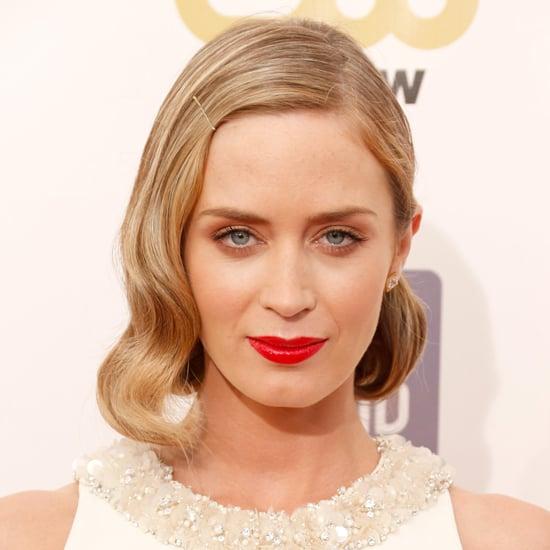Emily Blunt's Hair and Makeup at the Critics' Choice Awards