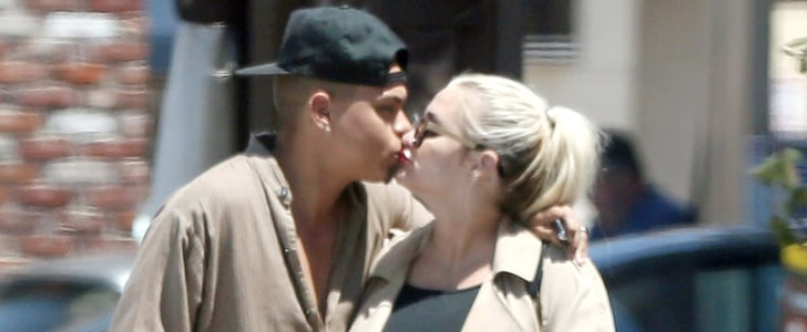 Ashlee Simpson Puts Her Growing Bump on Display While Kissing Her Man