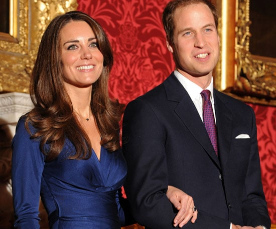 Slide Picture of Prince William and Kate Middleton Announcing Their Engagement in London