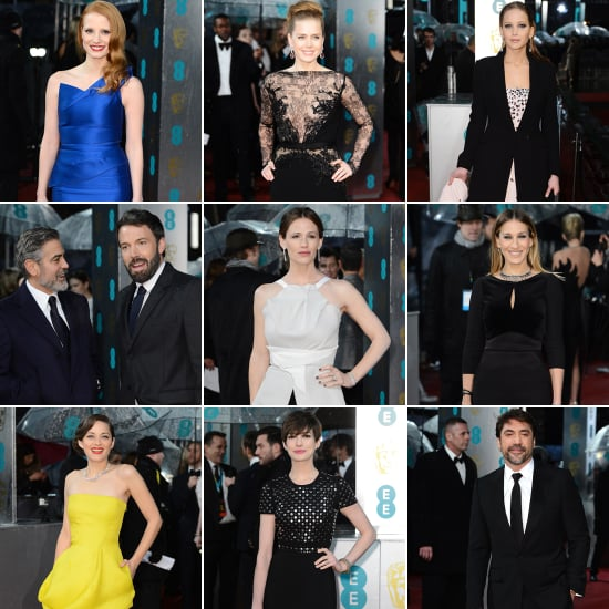 All the Stars Arriving on the BAFTAs Red Carpet