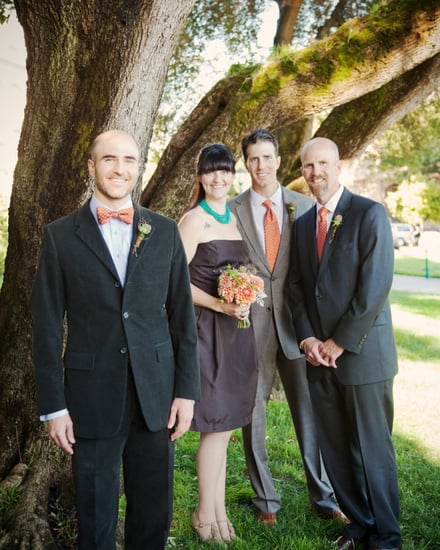 Andrew's attendants were his sister and two bros.