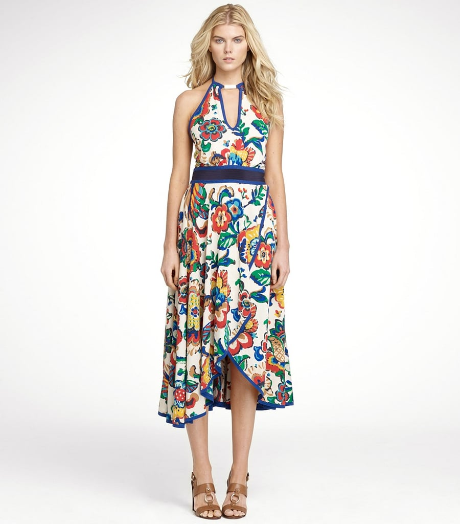 Wear Tory Burch's Emogen dress ($238, originally $595) with white sandals for your next Spring gathering.