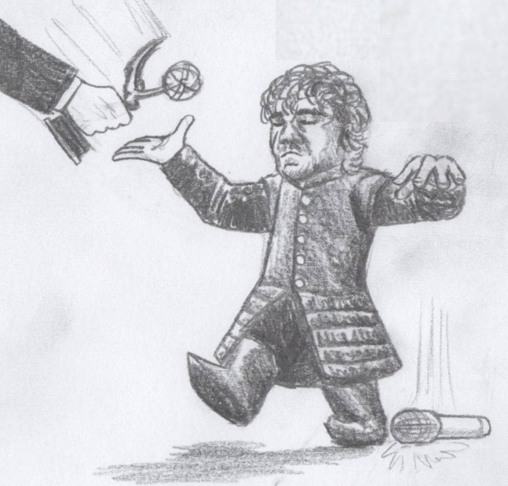 """Peter Dinklage after this episode..."" Source: Reddit user AWildSketchAppeared via Imgur"