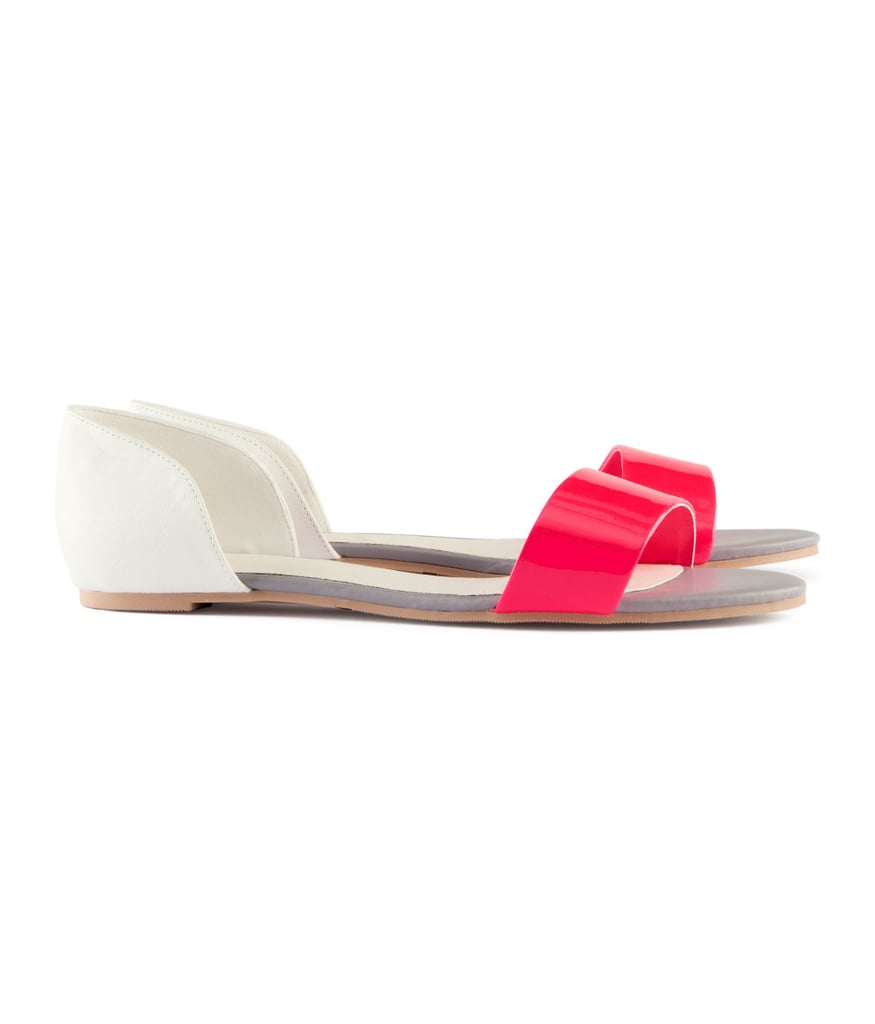 Be pretty in pink and white with these simple H&M flats ($18).