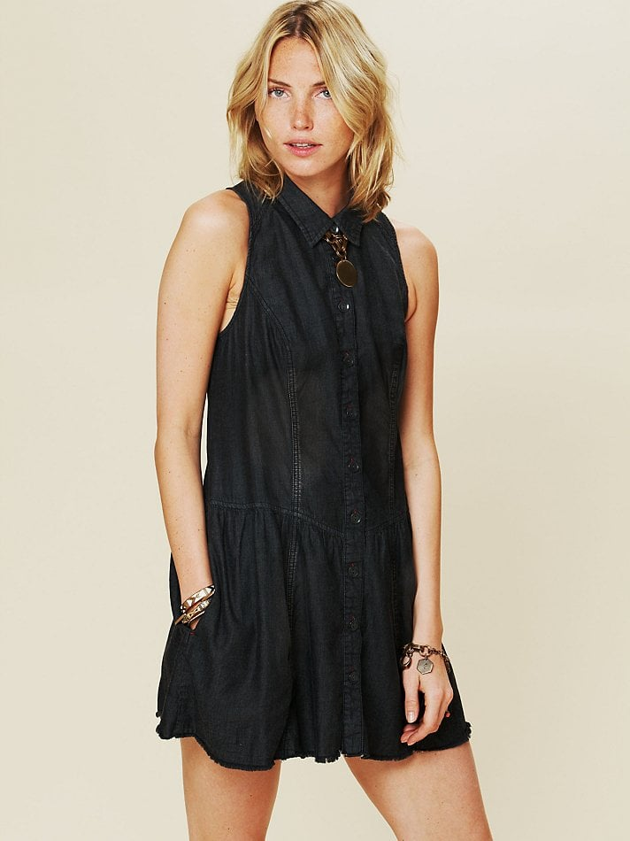 Try a cool, Western-inspired take on the LBD. We're obsessed with this lightweight denim in a distressed black jean wash dress. For cooler temps, throw on an oversized, cream-hued version. Free People Williamsburg Dropwaist Shirt Dress ($118)
