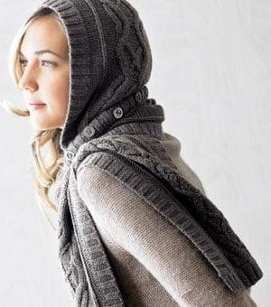 Simply Fab: RedEnvelope Merino Wool Hat-Scarf