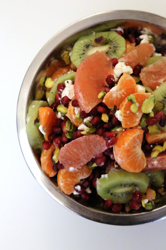 Citrusy Fruit Salad With Pistachios and Goat Cheese