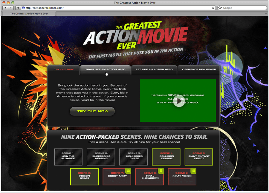 Motion Graphics — The Greatest Action Movie Ever