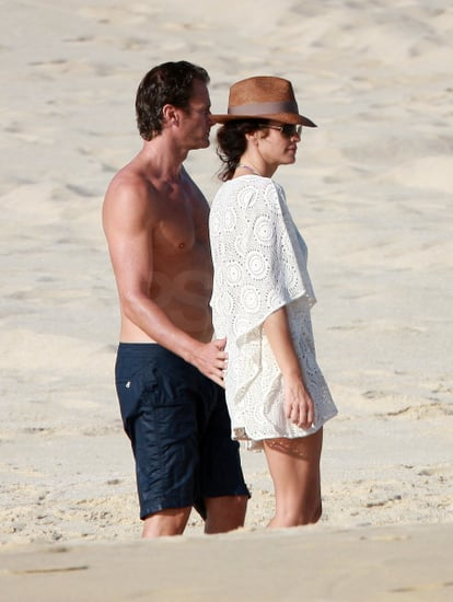 Pictures of Cindy Crawford and Rande Gerber on Vacation in Cabo