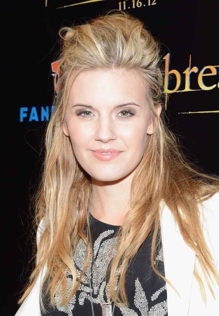 Maggie Grace arrived at the Breaking Dawn Part 2 party at Comic-Con.