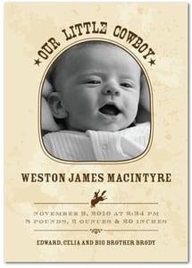 Cute Baby Birth Announcements