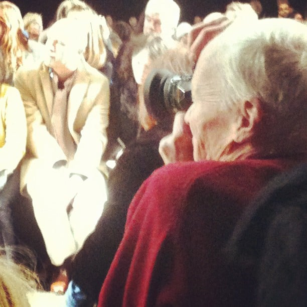Snapping the ultimate snapper at NYFW: Bill Cunningham.