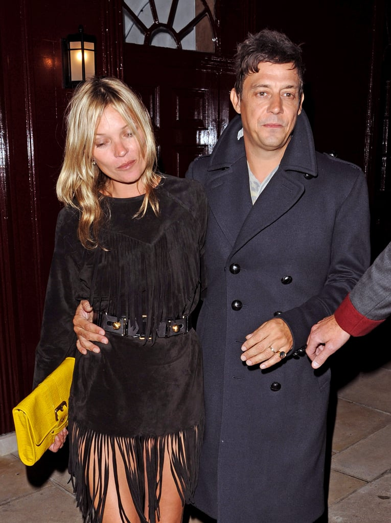 Jamie Hince and Kate Moss headed home.