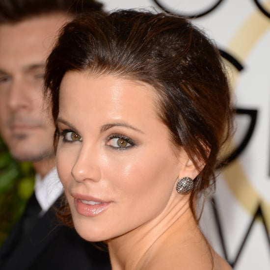 Kate Beckinsale Hair and Makeup at Golden Globes 2014
