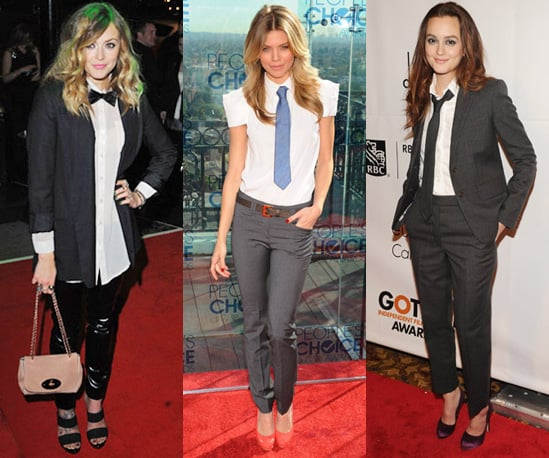 Leighton Meester, Fearne Cotton and Annalynne McCord Wear Suits on the Red Carpet