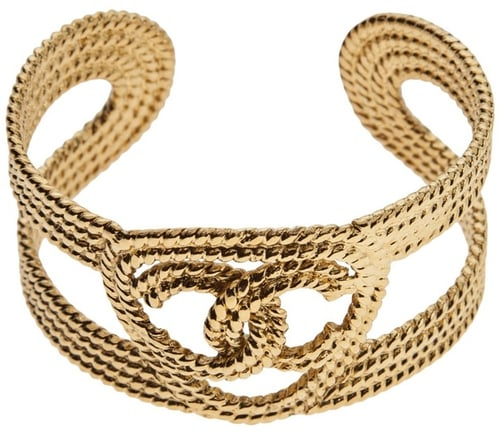 Chanel Vintage braided cuff