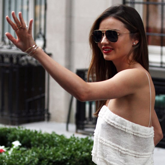Miranda Kerr in a Sheer White Dress in NYC | Pictures