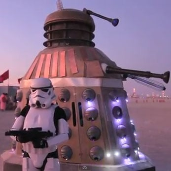 Burning Man Dalek Video