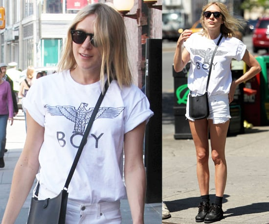 Photos of Chloe Sevigny in Casual Cut Off Shorts in New York City