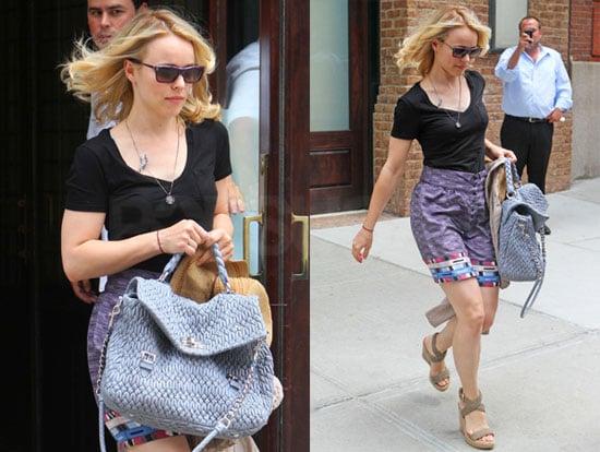 Pictures of Rachel McAdams Leaving Her New York Hotel