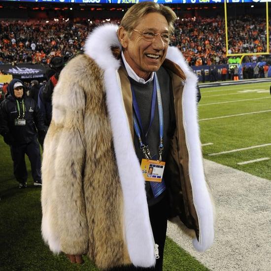 Joe Namath's Fur Coat at Super Bowl 2014