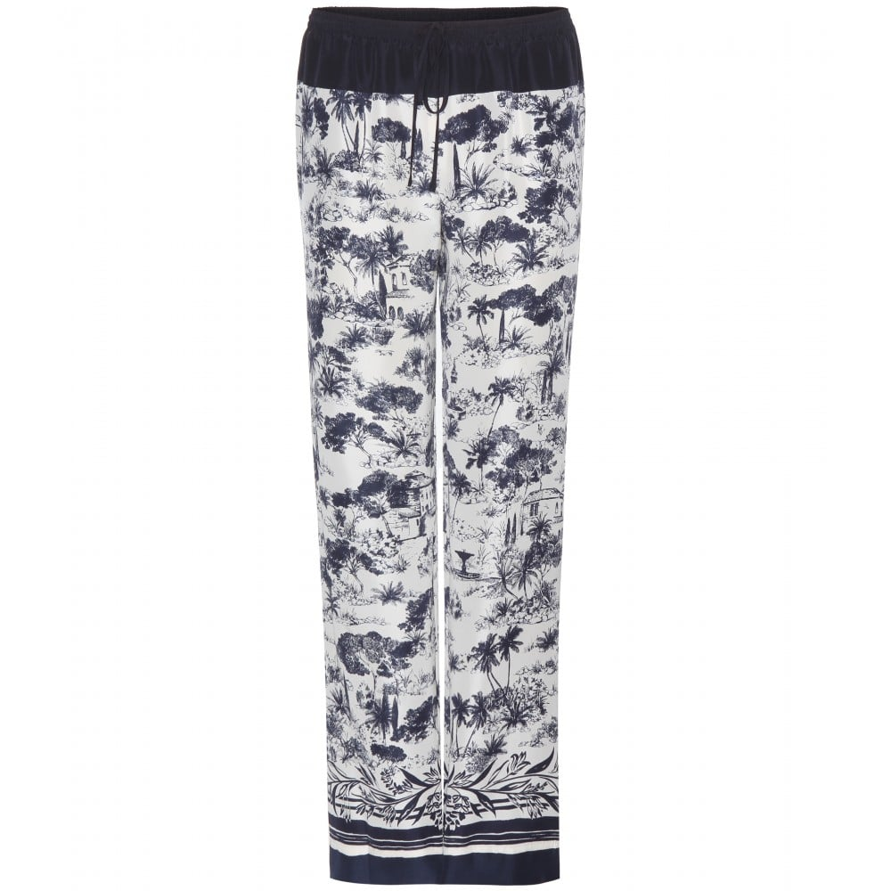 Tory Burch Printed silk trousers ($434)