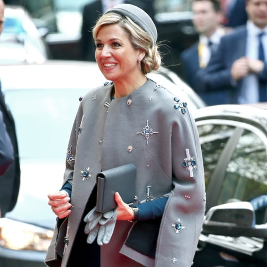 Queen Maxima Wears Embellished Coat