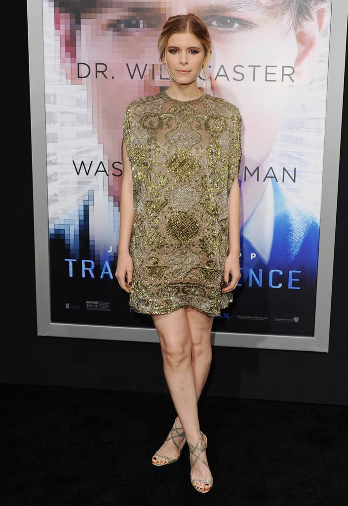 Kate Mara in Valentino at the LA premiere of Transcendence.