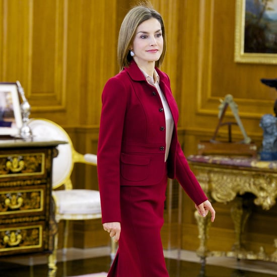 Queen Letizia Wearing a Statement Pair of Fall Pumps