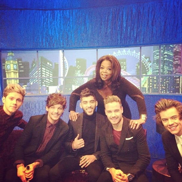 Oprah got to spend some time with the boys of One Direction backstage at The Jonathan Ross Show in London. Source: Instagram user oprah