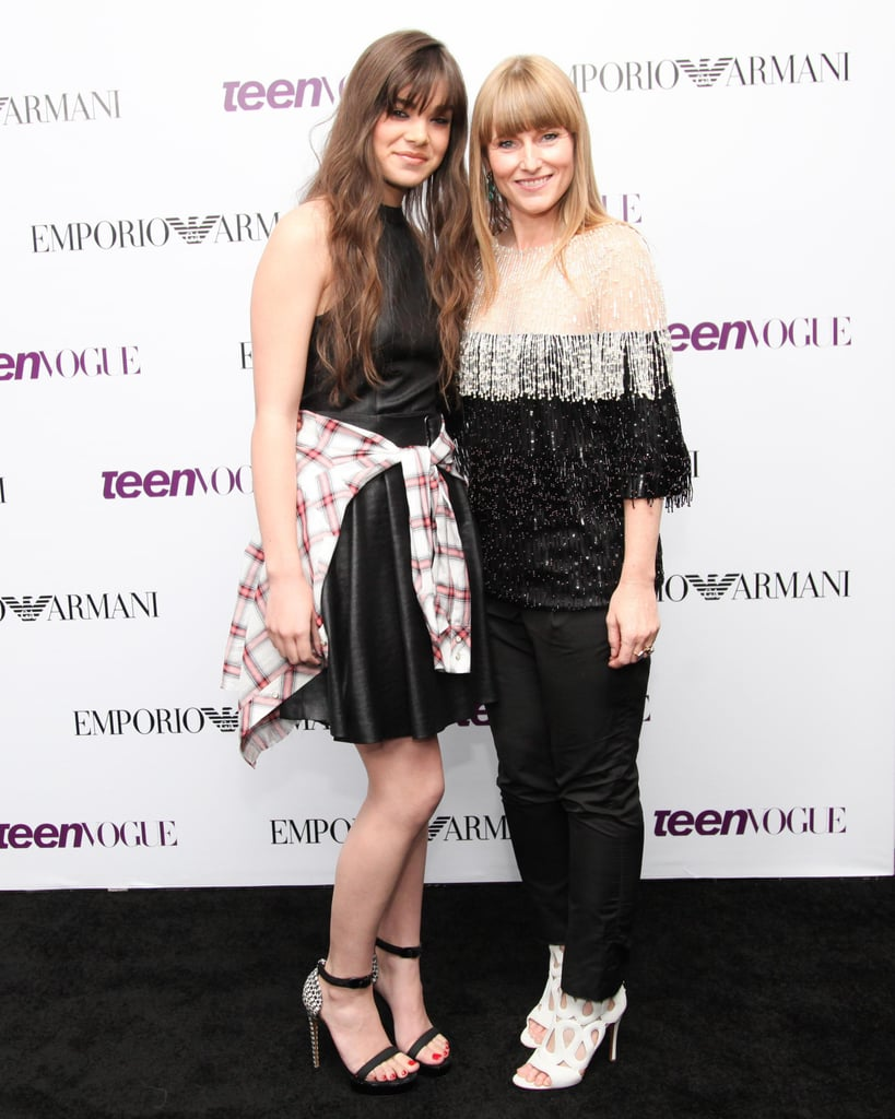 Hailee Steinfeld joined Amy Astley at the Emporio Armani bash for Teen Vogue's Young Hollywood issue.