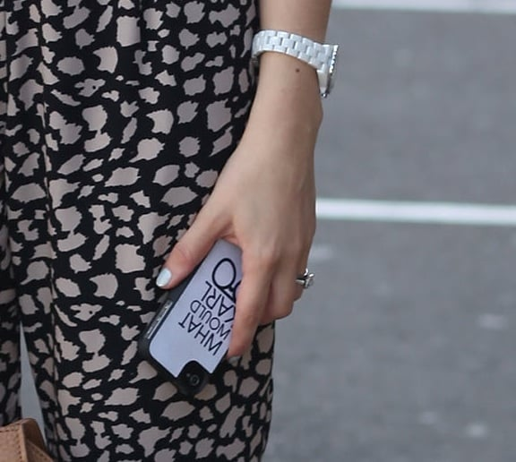 """We spotted this ultracool iPhone case message: """"What would Karl do?"""""""