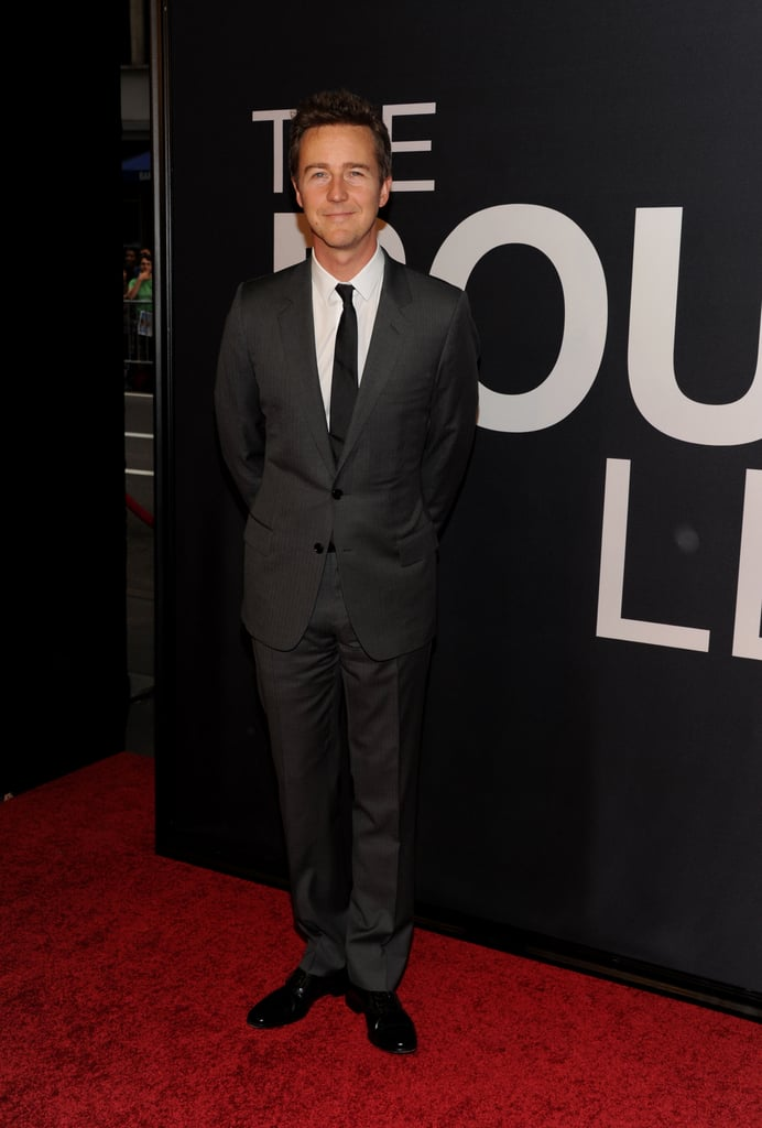Edward Norton stepped onto the red carpet for the world premiere of The Bourne Legacy in NYC.