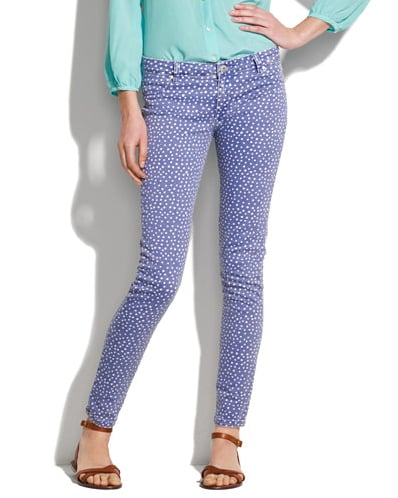 My print obsession is far from over. First, it was florals, and now I'm fixated on polka dots, brocade embroidery, and paisley patterns. To this point, these Blank NYC Printed Skinny Jeans ($110), tug at my printed heart strings — they're playful, flirty, and would make a red lip pop.  — Marisa Tom, associate editor