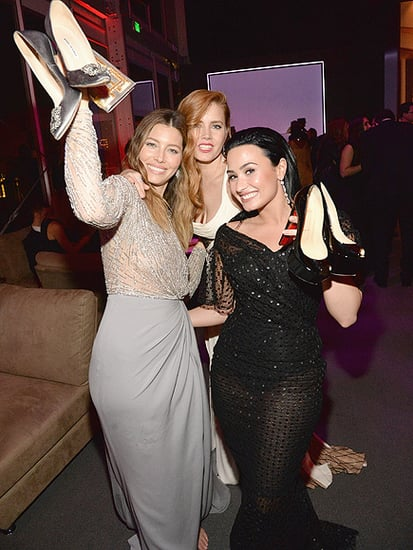 No Shoes, No Worries! Jessica Biel, Demi Lovato and Amy Adams Party Without Their Heels at Post-Oscar Bash