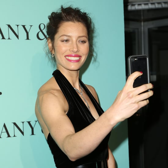 Katie Holmes and Jessica Biel at Tiffany's Blue Book Party