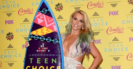 Britney Spears Stuns In A Plunging Cutout Dress At The Teen Choice Awards