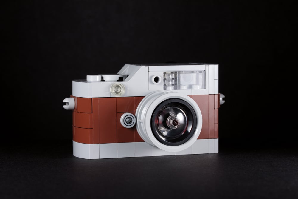 """A camera we once spotted in real life protected behind glass, the """"Mini Hermès Leica M9"""" is luxury photography. Source: Mini Hermès Leica M9 (2013) © Chris McVeigh"""