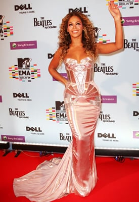 Photos of Beyonce at the 2009 MTV EMAs in Berlin