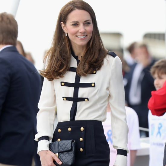 Kate Middleton in Alexander McQueen Military Dress May 2016
