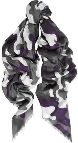 Christopher Kane Camouflage-print modal and cashmere-blend scarf